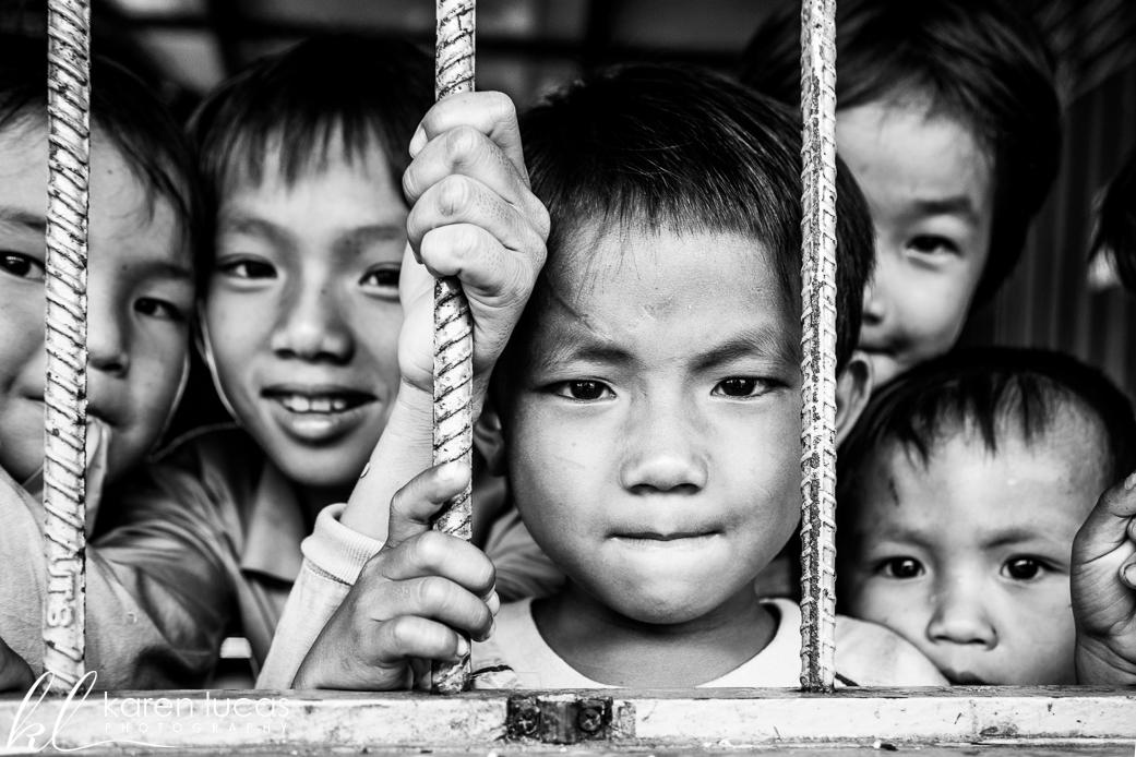 Khmer Children at a school on Ton Le Sap - photo by Karen Lucas