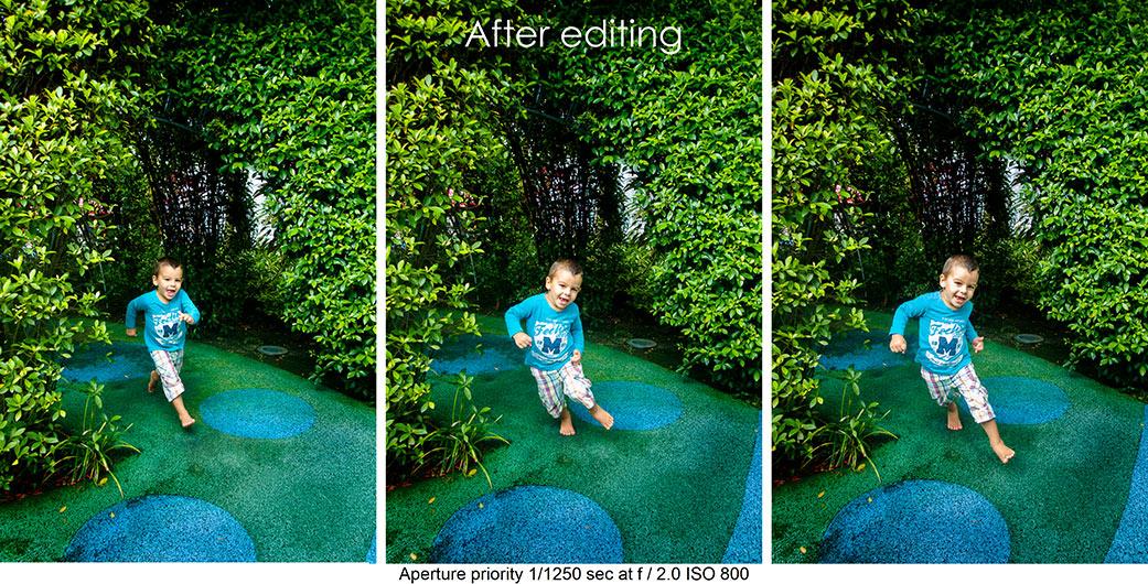 RAW photo edited in Lightroom