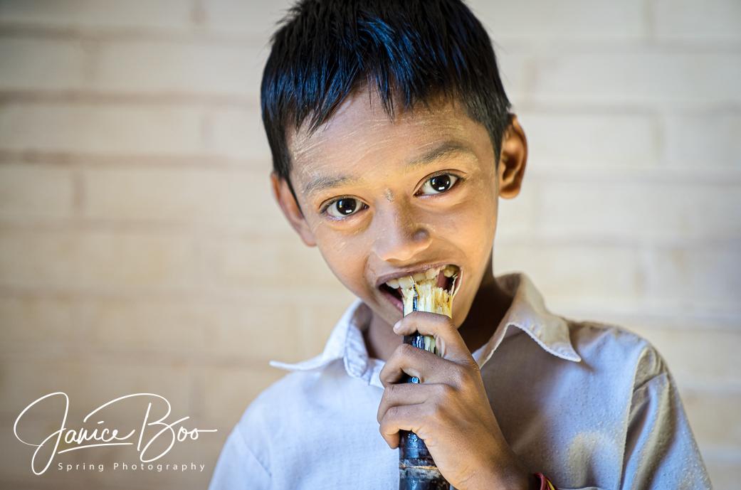 Portrait of a boy by Janice Boo