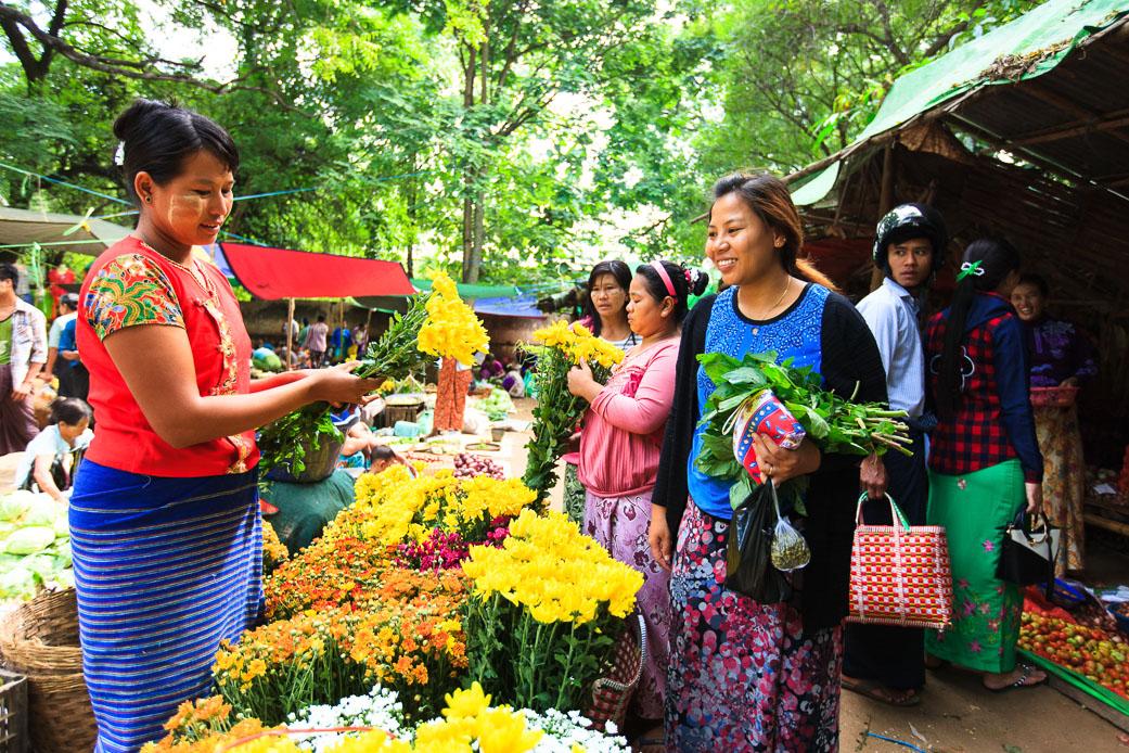 Flower seller, Bagan