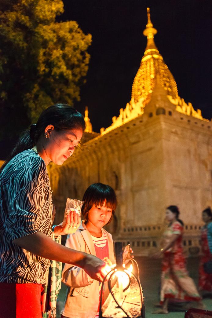 Candles at Ananda