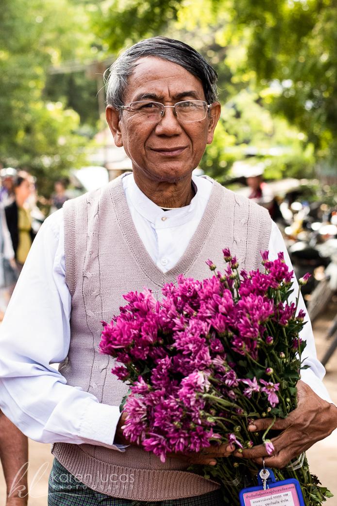 Bagan Market Portrait by Clara Luboff