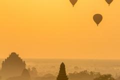 Bagan sunrise hot air balloon flight by Fiona Gant